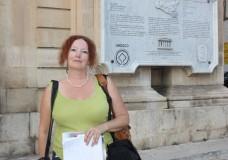 Lisa Gerard-Sharp in città per un reportage