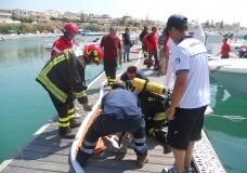 Esercitazione antincendio e di soccorso a Marina di Ragusa