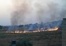 Scicli – Incendio in c.da Gurgazzi