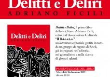 """Scicli – Grande successo di pubblico per la presentazione del libro """"Delitti e Deliri"""""""