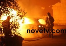 Scicli – Auto in fiamme al quartiere Jungi