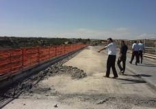 Modica – Sopralluogo del sindaco Abbate sul Ponte Guerrieri
