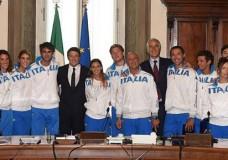 """Il Premier Renzi ai medagliati di Kazan 2014: """"Grazie per aver inorgoglito l'Italia"""""""