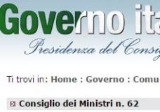 Lo scioglimento del Consiglio Comunale di Scicli: il testo del Consiglio dei Ministri n.62