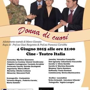 """Scicli – Il """"Q. Cataudella"""" in scena con """"Donna di cuori"""", al Teatro Italia"""