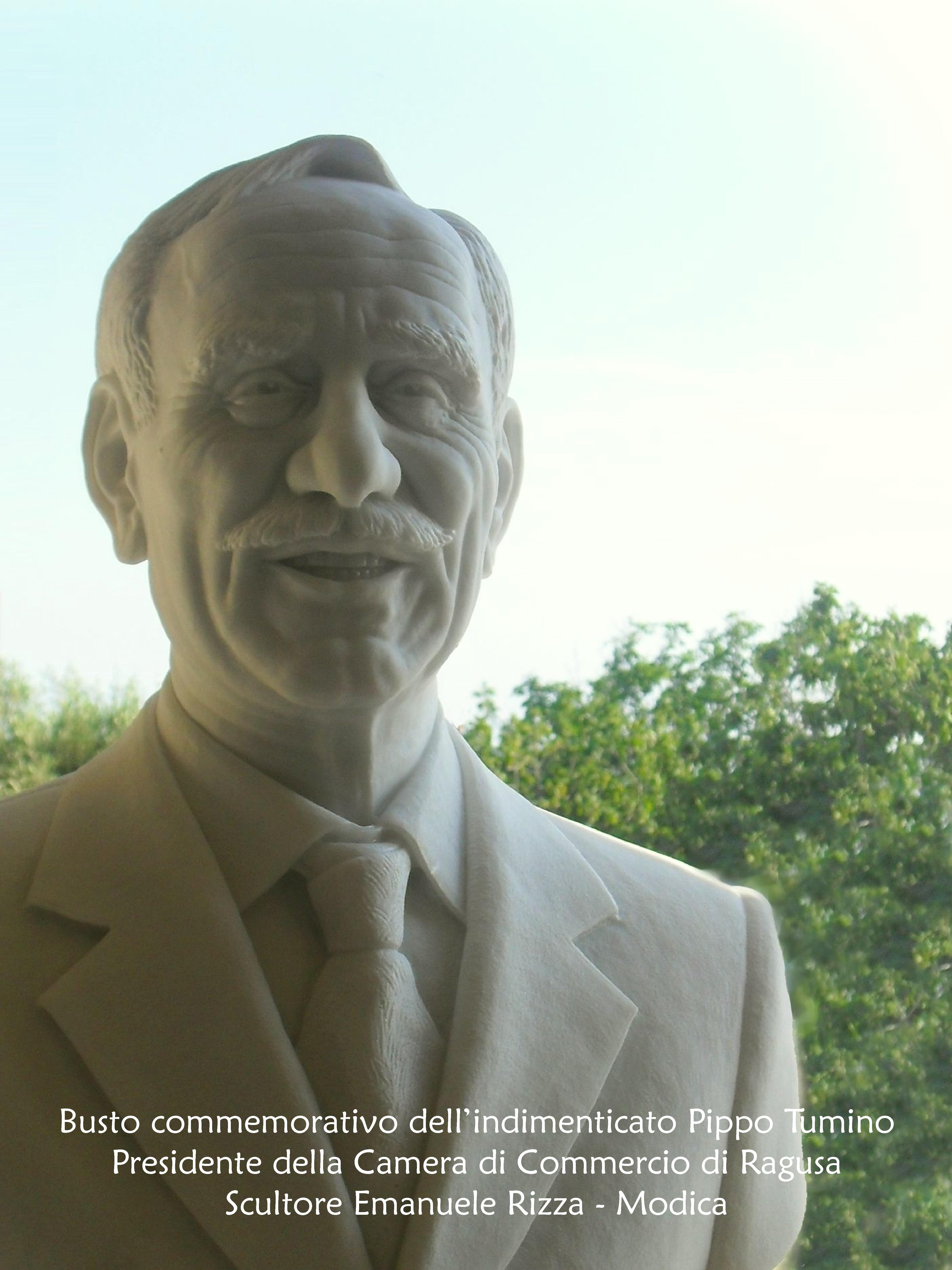 pippo tumino, busto realizzato da Emanuele Rizza