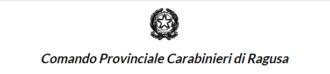 scritta carabinieri comando provinciale