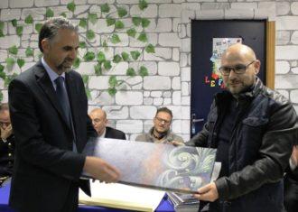 Premiazione Sindaco con Roberto Ingallinera