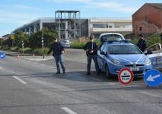 polizia posto di blocco