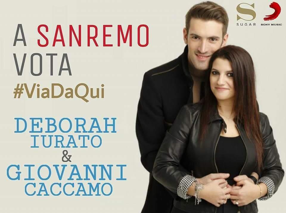 giovanni Caccamo e Deborah iurato vota a Sanremo