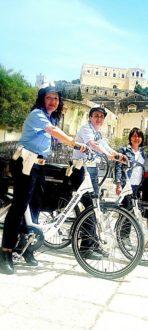 polizia municipale in bici
