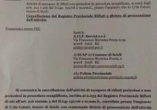 Scicli – Per l' Acif cancellazione dal registro Provinciale rifiuti e divieto di proseguire i lavori a Cuturi