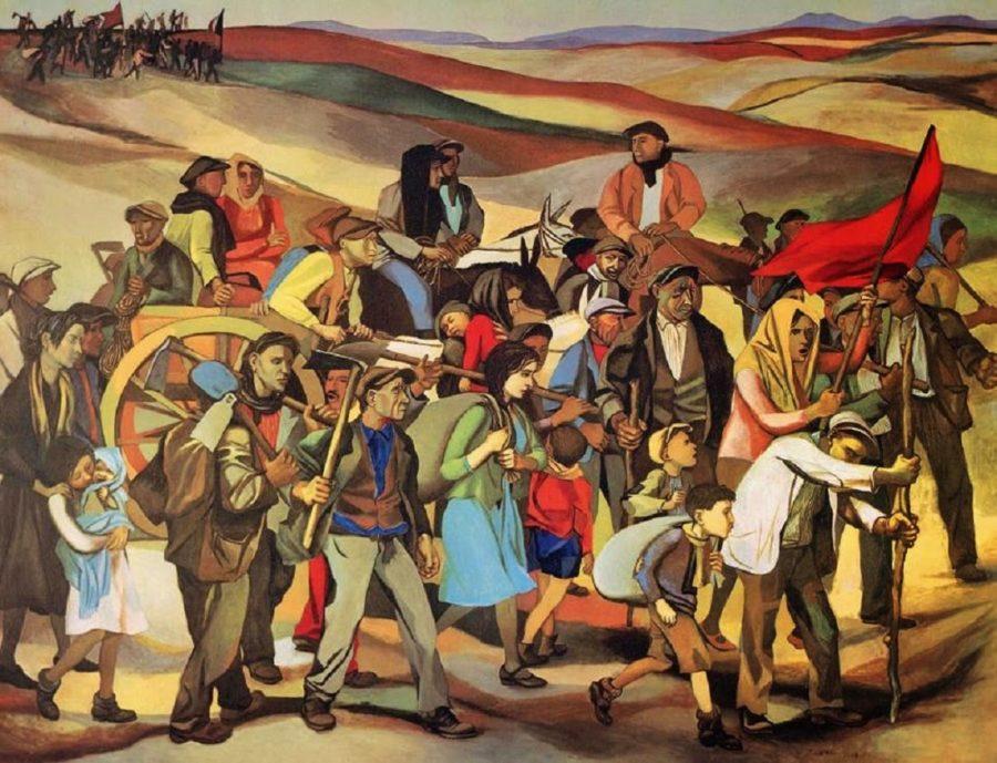 Fontamara - Guttuso, L'occupazione delle terre incolte