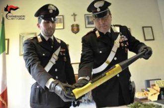 Carabinieri Vittoria (RG) sequestro mazza baseball