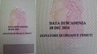 carta identita donazione organi