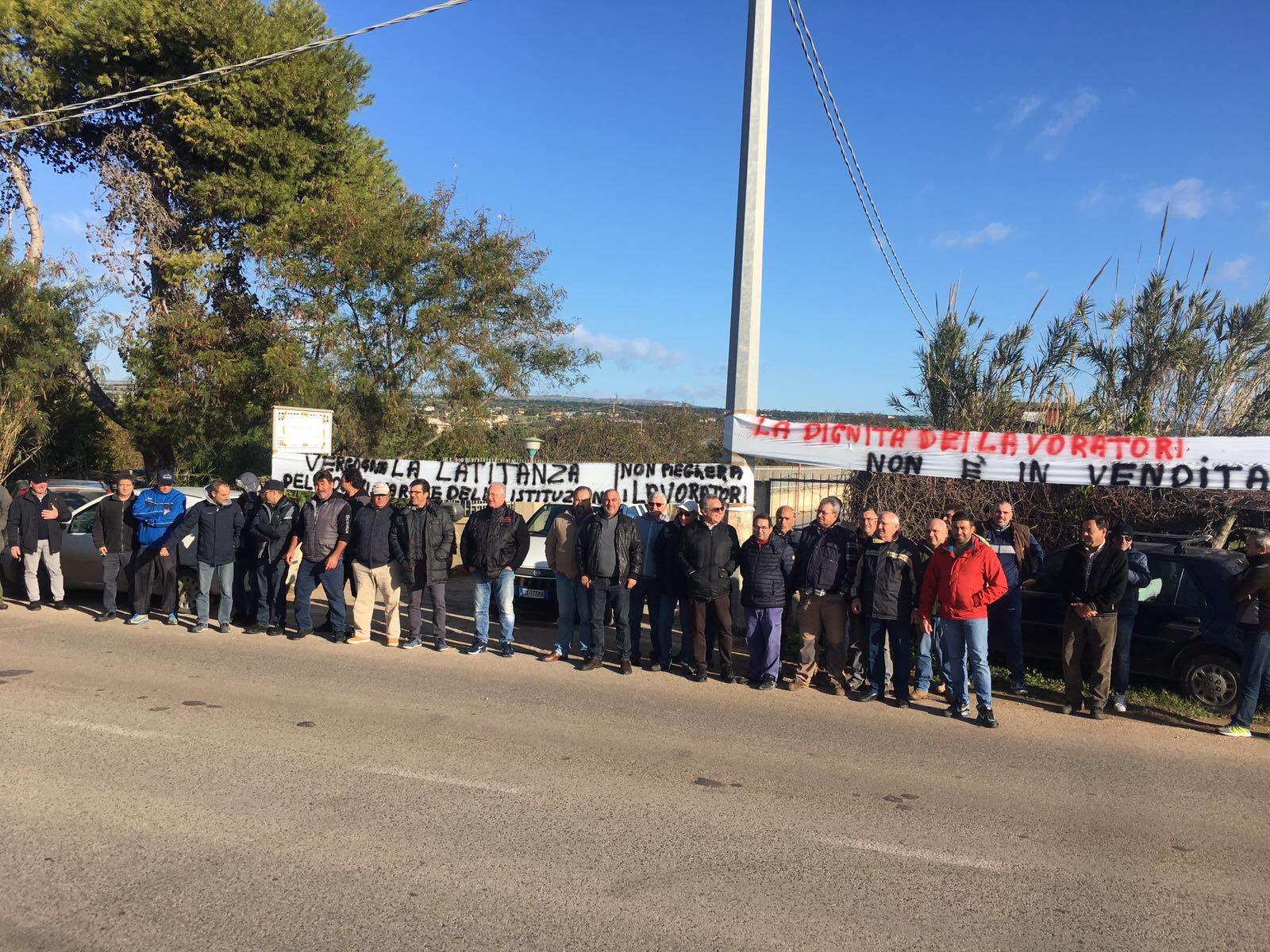 protesta lavoratori consorzio bonifica 2