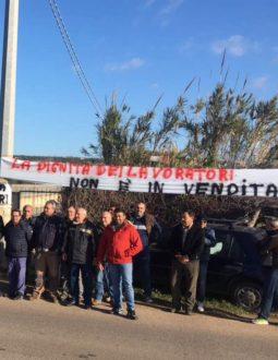 protesta lavoratori consorzio di bonifica