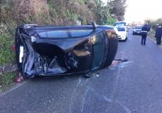 Modica – Strada ghiacciata. Incidente stradale autonomo