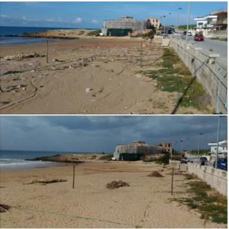 cava d'aliga pulizia spiaggia