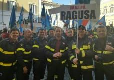 Manifestazione a Roma dei Vigili del Fuoco