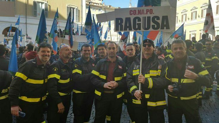 protesta vigili del fuoco