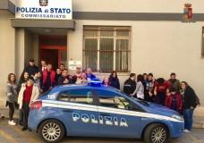 Modica – I ragazzi dell'ANFFAS in visita al Commissariato di pubblica sicurezza