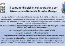 Scicli – Disaster Manager: due conferenze, sabato 8 Aprile