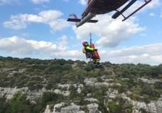 Modica – Escursionista cade in un dirupo, recuperato dai Vigili del Fuoco