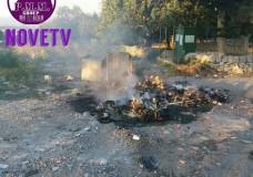 Scicli – Bruciano cassonetti rifiuti in c.da Genovese