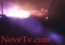 Scicli – Incendio distrugge casa e deposito agricolo in c.da Arizza
