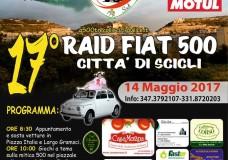 Scicli – Domenica 14 Maggio il Raid Fiat 500. In Piazza Italia l'esposizione delle auto e giochi a tema. Special Guest Mariuccia Cannata