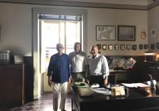Scicli – Il sindaco Giannone saluta Zingaretti e Sironi nell'ultimo giorno di riprese