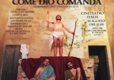 """""""Come Dio comanda"""": al Cineteatro Italia a Scicli, l'ultimo spettacolo dei Mortal Pompat, tra sacro e profano"""
