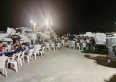 Una cena sociale al circolo nautico di Casuzze