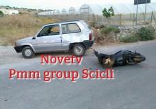 Scicli – Incidente stradale tra auto e scooter in c.da Arizza