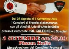 Gemellaggio di Judo, campioni Francesi a Scicli. Domenica 3 Settembre dimostrazioni in Piazza Italia