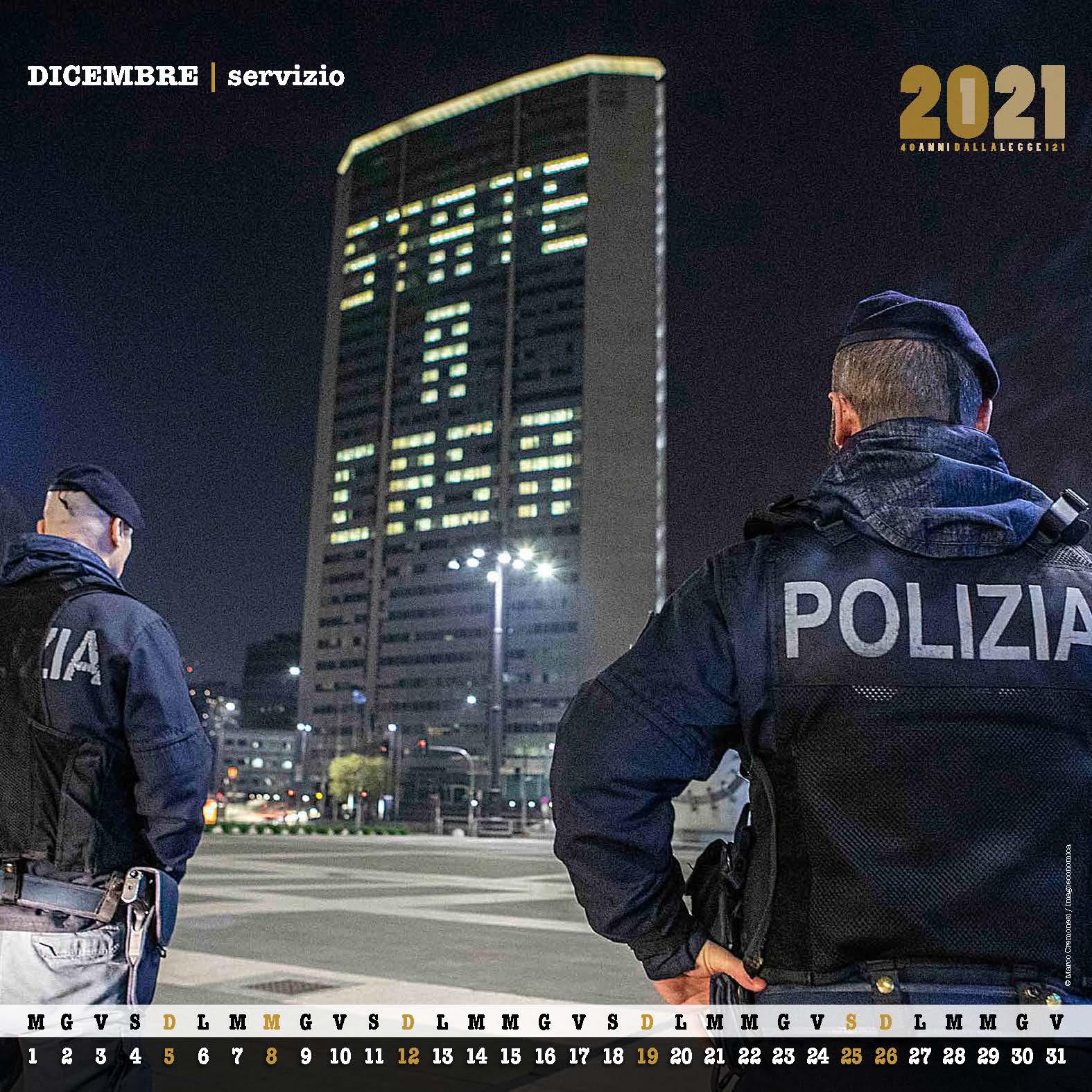 calendario polizia 2021 2   Novetv.com
